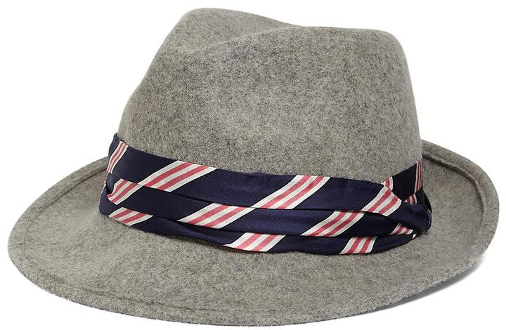 Brooks Brothers BB#1 Stripe Fedora