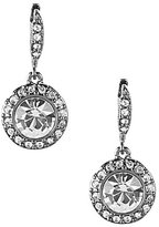 Givenchy Round Pave Drop Earrings