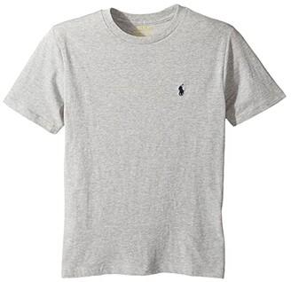 Polo Ralph Lauren Kids Cotton Jersey Crew Neck T-Shirt (Big Kids) (Andover Heather) Boy's T Shirt
