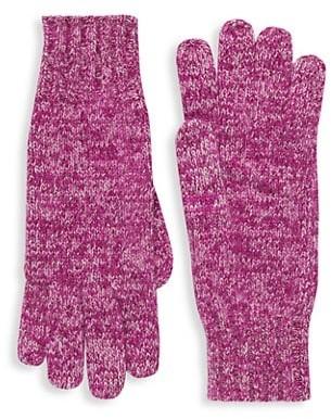Saks Fifth Avenue Marled Cashmere Knit Gloves