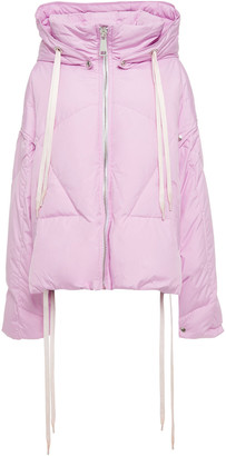 KHRISJOY Convertible Quilted Shell Hooded Down Jacket