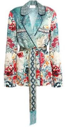 Camilla Her Heirloom Embellished Printed Silk-satin Jacket