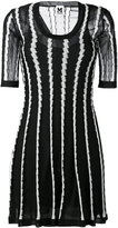 M Missoni stripe panel flared dress