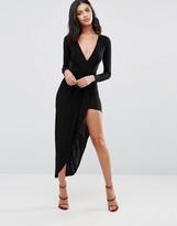 Rare Long Sleeve Asymmetric Dress