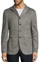 John Varvatos Slim-Fit Heathered Sweater Jacket