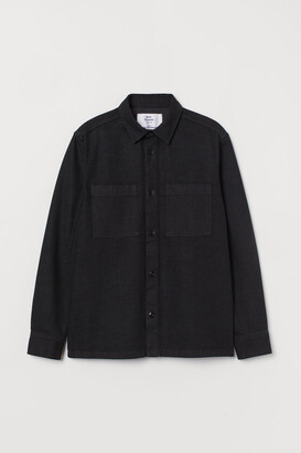 H&M Denim Shirt Jacket - Black