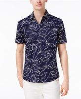 Michael Kors Men's Slim-Fit Palm-Print Cotton Shirt