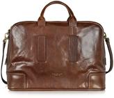The Bridge Cosmopolitan Large Brown Leather Weekender Bag