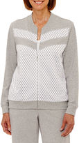 Alfred Dunner Long Weekend Softshell Jacket-Petites