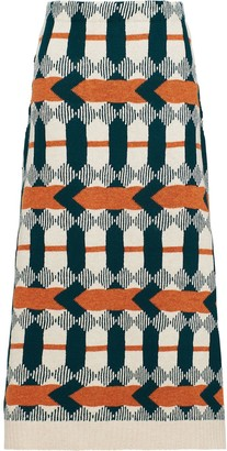 Prada arrow print A-line skirt