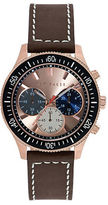 Ted Baker Mens Rose Goldtone Watch with Multi Color Chronograph Dial