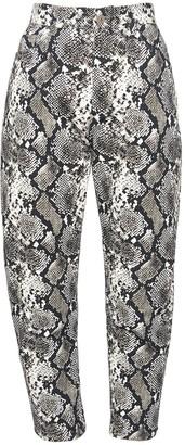 ATTICO Python Print Denim Slouchy Jeans