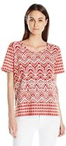 Alfred Dunner Women's Monotone Knit Top
