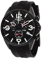 Torgoen Swiss T16301 Men's 45mm Aviation Watch with Chronograph, Black IP Case, Black Dial and Black PU Strap