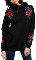 Volcom Women's Burned Down Embroidered Hoodie