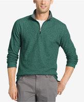 Izod Men's Marled Quarter Zip Light Weight Fleece Pullover