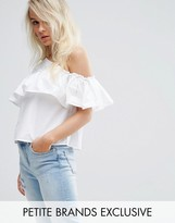 Noisy May Petite One Shoulder Ruffle Top