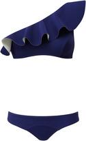 Lisa Marie Fernandez Aden One Shoulder Bikini Set