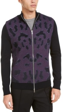 INC International Concepts Inc Onyx Men's Full-Zip Sweater, Created for Macy's