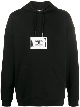Givenchy Contrasting Logo Patch Hoodie
