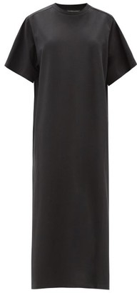 The Row Aprile Cotton-jersey Midi Dress - Black