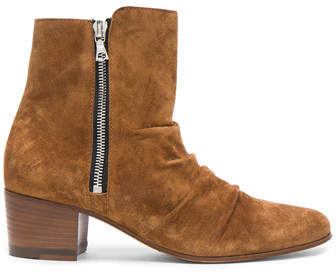 Amiri Suede Stack Boots