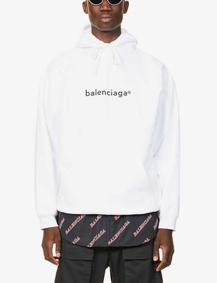 Balenciaga Copywrite cotton-jersey hoody