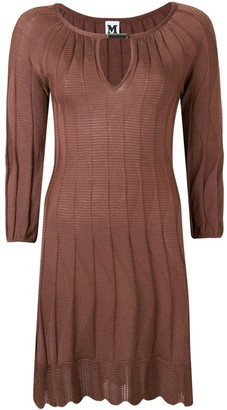 Missoni Pre Owned 2000's Knitted Scalloped Dress