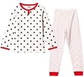 Petit Bateau White Star Print and Stripe Pyjamas