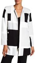 Vince Camuto Abstract Print Long Jacket