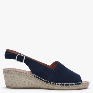 Daniel Navy Suede Low Wedge Espadrille Sandals