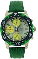 Eton Men's Analogue Chrono Effect 3 Sub Dial Green PU Strap Watch 1404G