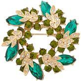 Dana Buchman Green Stone Cluster Wreath Pin