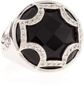Elizabeth Showers Black Onyx Maltese Canopy Ring, Size 7