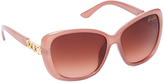 Kenneth Jay Lane Blush & Rose Gradient Butterfly Sunglasses