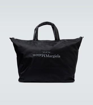 Maison Margiela Upside-down logo nylon tote bag