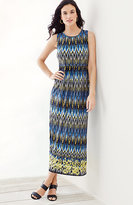 J. Jill Wearever Printed Empire-Waist Maxi Dress