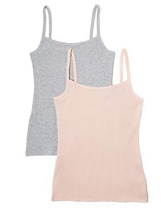 Iris & Lilly Ribbed Vest,(size: Medium), Pack of 2