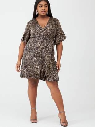 AX Paris Curve Printed Wrap Dress