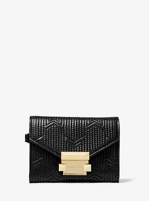 Michael Kors Whitney Small Deco Quilted Leather Chain Wallet