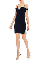 Jodi Kristopher Off-The-Shoulder Bodycon Sheath Dress