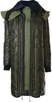 Sacai 2-In-1 Layered Puffer Coat