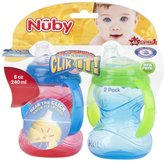 Nuby CLICK-IT 2-Handle No-Spill Trainer Cup - Boy - 8 oz - 2 ct