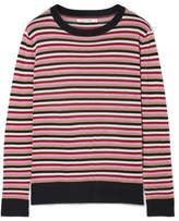 Chinti and Parker Metallic Striped Wool-blend Sweater - Red