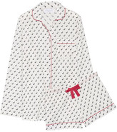 Three J NYC Phoebe Printed Cotton-poplin Pajama Set - large