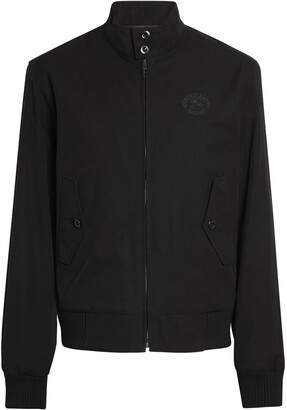 Burberry Slim Fit Tropical Gabardine Harrington Jacket
