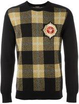 Balmain tartan check sweatshirt - men - Polyamide/Polyester/Viscose/Merino - S