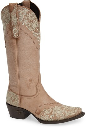Lane Boots Jeni Lace Embroidered Western Boot