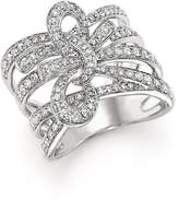 Bloomingdale's Diamond Multi-Row Bow Ring in 14K White Gold, 1.0 ct. t.w. - 100% Exclusive
