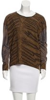 Raquel Allegra Long Sleeve Tie-Dye T-Shirt w/ Tags